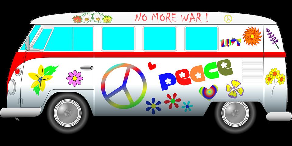 dodávka hippies