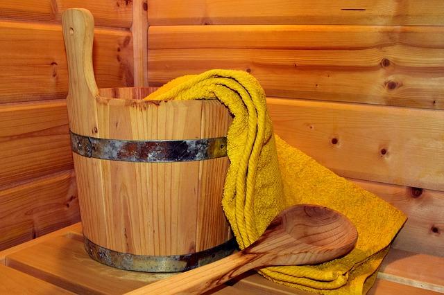 vědro a sauna