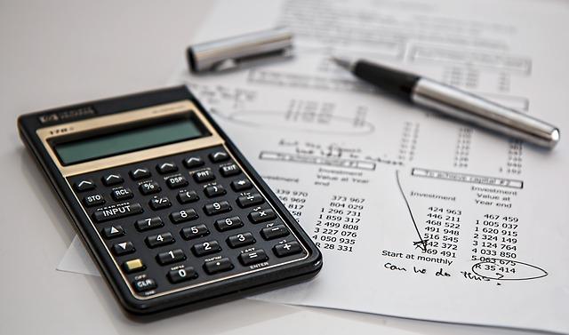 počítání účtů – kalkulačka