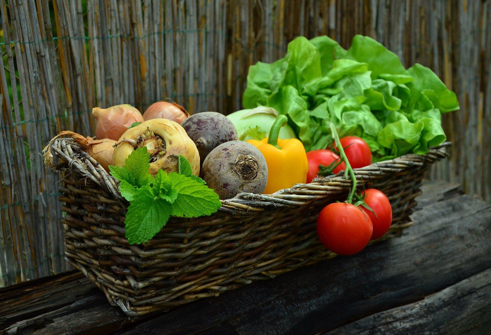 zelenina v košíku